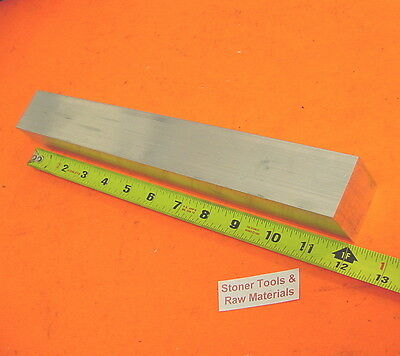 "1-1/2"" X 1-1/2"" ALUMINUM SQUARE 6061 T6511 SOLID FLAT BAR 12"" long Mill Stock"
