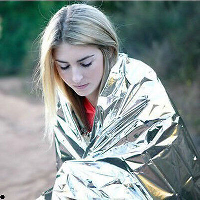 Mylar Rescue Space Foil Thermal Emergency Blanket Camping Hiking 51.2'' x 82.7''