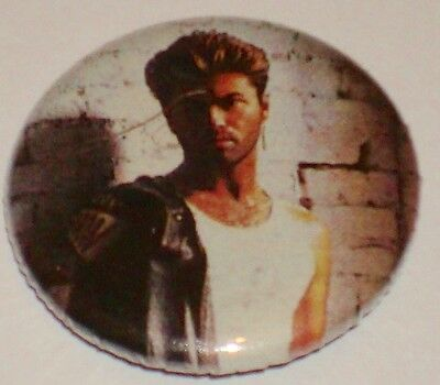 George Michael Button        New!  Rock & Roll!  Wham!