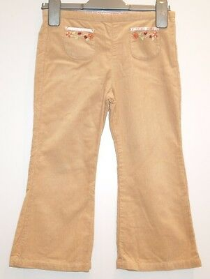 Designer Brand SWEET PEA - Girls Beige Cords Trousers Age 4  Height 104cm