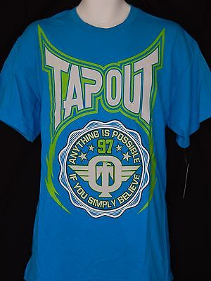 Tapout Boxing Tee Shirt Mens Sizes Logo MMA UFC Blue Sportswear Workout MPS