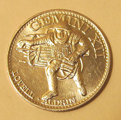 Gemini XII Jim Lovell, Buzz Aldrin - Man in Space Coin