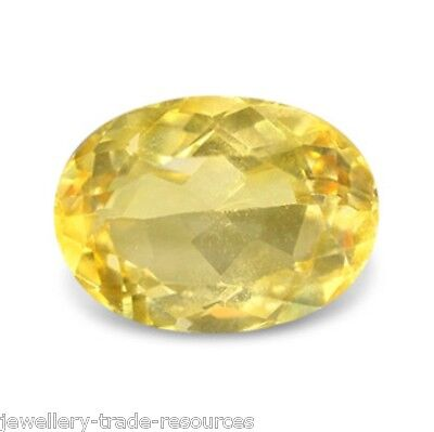 14mm x 10mm OVAL NATURAL PALE YELLOW CITRINE GEM GEMSTONE