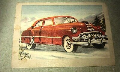 1950 PONTIAC  Jacques Chocolates BELGIUM Trade Swap Card