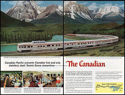 1955 vintage ad for 'the Canadian', Canadian Pacific RR -426