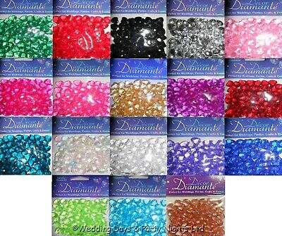 85 Heart Diamante Crystals Wedding / Engagement Party Table Confetti Decorations