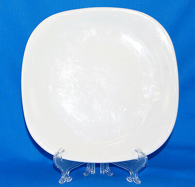Block TRANSITION WHITE Salad Plate 7.625 in. All White Glossy
