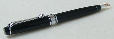 Aurora Optima Black Resin Chrome Plated Trim Ball Point Pen Beautiful Design !!!