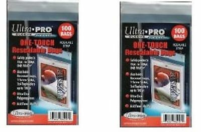 Ultra Pro Resealable One Touch Card Holder Sleeves 200 count lot Brand New