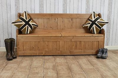5Ft Handmade Pine Storage Pew Hall Bench Storage Bench Made In Great Britain