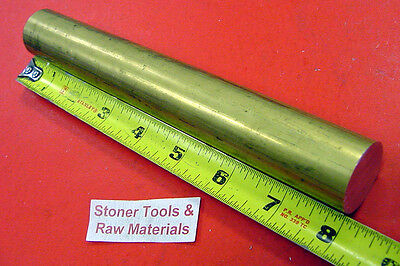 "1-1/8"" C360 BRASS SOLID ROUND ROD 8"" long New Lathe Bar Stock 1.125""x 8"" H02"