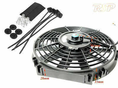 "10"" 10 Inch Slim Line Universal Electric 12v Radiator/Intercooler Cooling Fan"