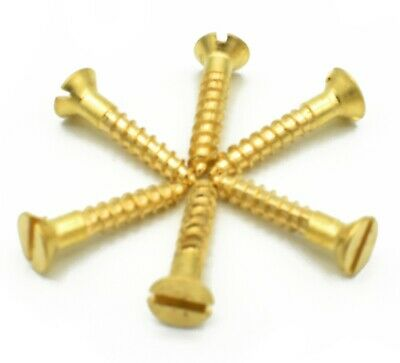 No.2, No.3, SOLID BRASS SLOTTED COUNTERSUNK WOOD SCREW, SCREWS,GAUGE
