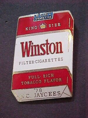 Rare Winston Cigarettes 1978 North Carolina JAYCEES Enamel Pin Large 2""