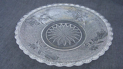 1880s EAPG Pattern Glass Rose in Snow, Rose, Bryce 125, 7 Inch Plate