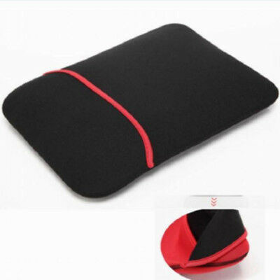 """Soft 15"""" 15.4"""" 15.6"""" Carry Laptop Case Bag Cover For Work Office Black Macbook"""