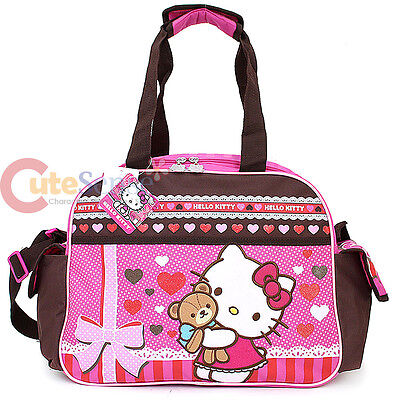 b467dff282c Sanrio Hello Kitty Duffle Bag Travel Gym Large Overnight Bag - Super Sweet  Bear