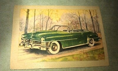 1951 CHRYSLER New Yorker  Jacques Chocolates BELGIUM Trade Swap Card - RARE !