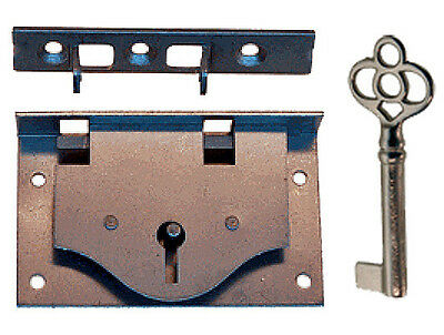 Half Mortise, Chest Lid, Steel Lock set  with Key