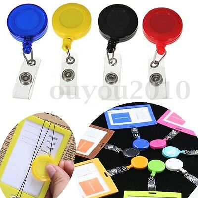 Lot Porte Badge Enrouleur Rétractable YOYO Clip Bouton Pression ID Carte Clé