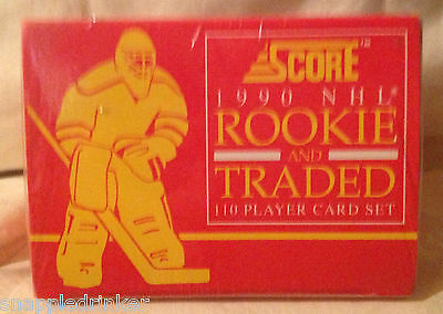 1990 Score NHL HOCKEY Rookie and Traded Complete Set - Unopened