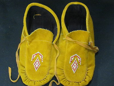 11  Inches Long Native American Tanned Moose Hide Moccassin Grand Design Warm