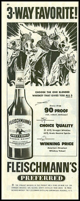 1950 vintage ad for Fleischmann's whiskey  -247