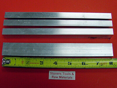 "4 Pieces 1/2"" X 1"" ALUMINUM 6061 FLAT BAR 8"" long .500"" T6511 New Mill Stock"