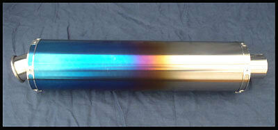 Coloured Titanium Road Legal Slip on exhaust end can