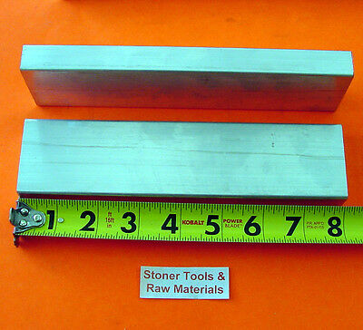 """2 Pieces 5/8"""" X 2"""" ALUMINUM 6061 FLAT BAR 8"""" long T6511 Solid Plate Mill Stock"""