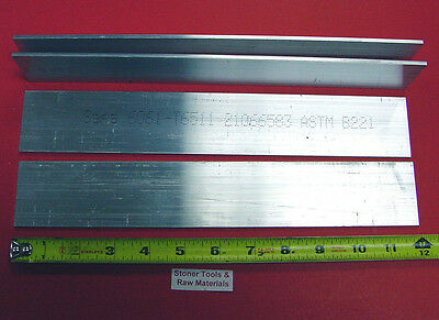 "4 Pieces 1/8"" X 2"" ALUMINUM 6061 FLAT BAR 12"" long .125"" Plate New Mill Stock"