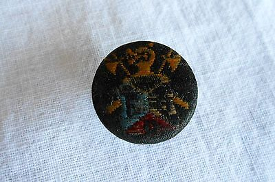 Vintage Knights of Pythias Cloth Covered Button Hole Stud Pin