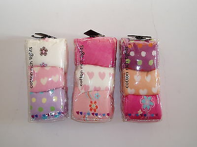 New 3 Pairs of Girls Cotton Winter Tights 2-3 Years