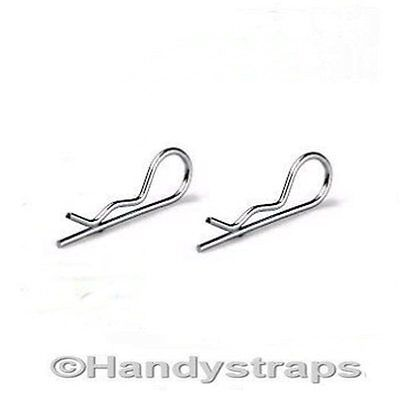 2 x 3mm x 70mm R Clips Retaining spring cotter TRAILER Stainless Steel Marine