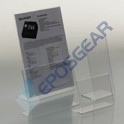 1 A5 Portrait Perspex Acrylic Angled Counter Menu Poster Holder Display Stands