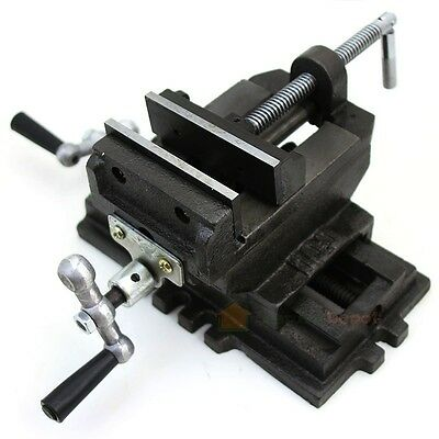 "4"" Cross Slide Drill Press Vise Clamp 2-Way Vises New Bench Top Holder Clamping"