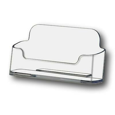 50 Acrylic Desktop Business Card Display Counter Dispenser Holder Stands