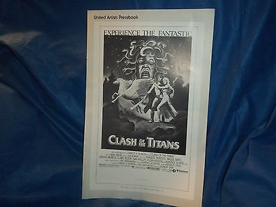 "1981 Original United Artist ""Clash of the Titans"" Movie Press Book"
