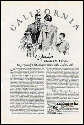 1926 vintage ad for the State of California, travel -205