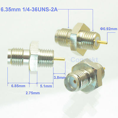1pce SMA female Screw Standard 1/4-36UNS-2A/B solder connector nut panel mount