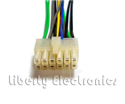 pioneer 12 pin 2x6 wire wiring harness deh 225 245 435 7 99 rh picclick com pioneer deh-435 wiring diagram pioneer deh-435 wiring diagram