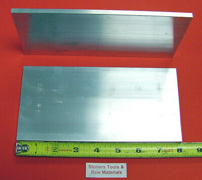 "2 Pieces 1/4"" X 4"" ALUMINUM 6061 FLAT BAR 8"" long .250"" Plate New Mill Stock"