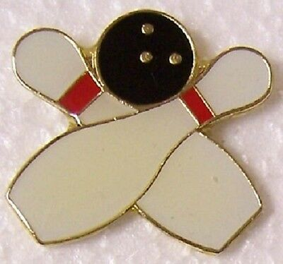 Hat Lapel Pin sports Bowling Pins and Ball NEW