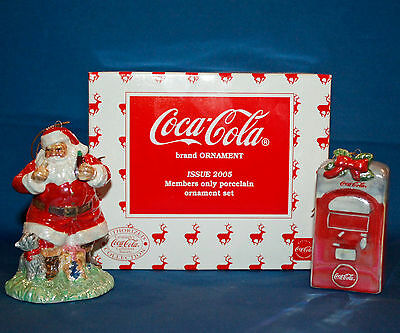 2005 Coca Cola Limited Collector's Society Members Only Porcelain Ornament Set