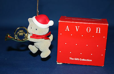 Avon Merry Marchers Christmas Ornament - Kitten with French Horn