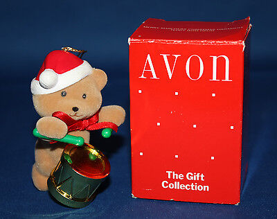 Avon Merry Marchers Christmas Ornament - Teddy with Drum