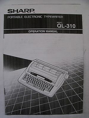 Instructions TYPEWRITER SHARP QL-310 64 pages CD/email