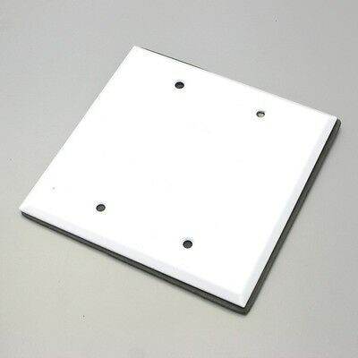 Two-Gang Weatherproof Blank Cover, White (20pc)