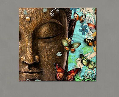Modern Abstract hand-draw Art Oil Painting:merciful Buddha large Canvas