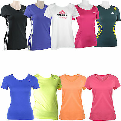 adidas Performance Damen-Laufshirt Trainingsshirt Kurzarm-Shirt Sportshirt Top